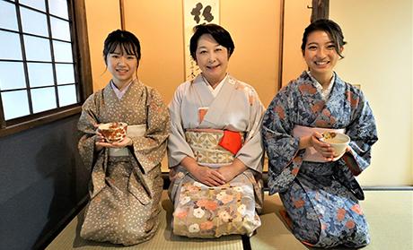 Kimono and tea ceremony experience